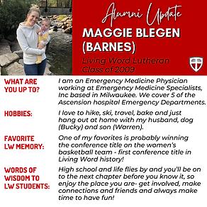 Maggie Blegen (Barnes) - Alumni Update.p