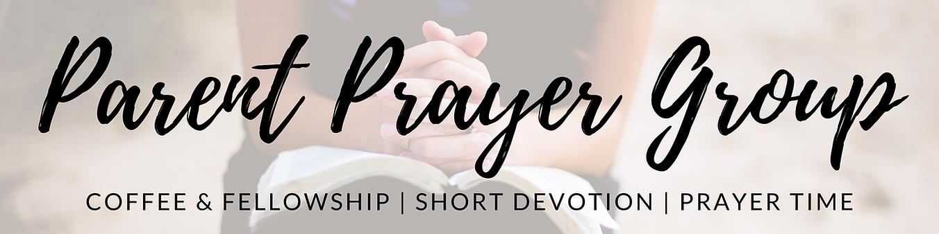 Parent Prayer Group - Banner Image