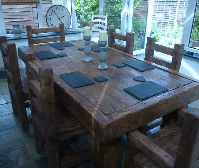 Dinning Table, Reclamed Wood, contemporary dinning table