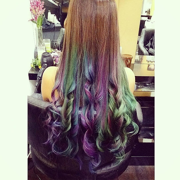 D'sire Hair Syrena Singapore's first mermaid ombre hair colouring