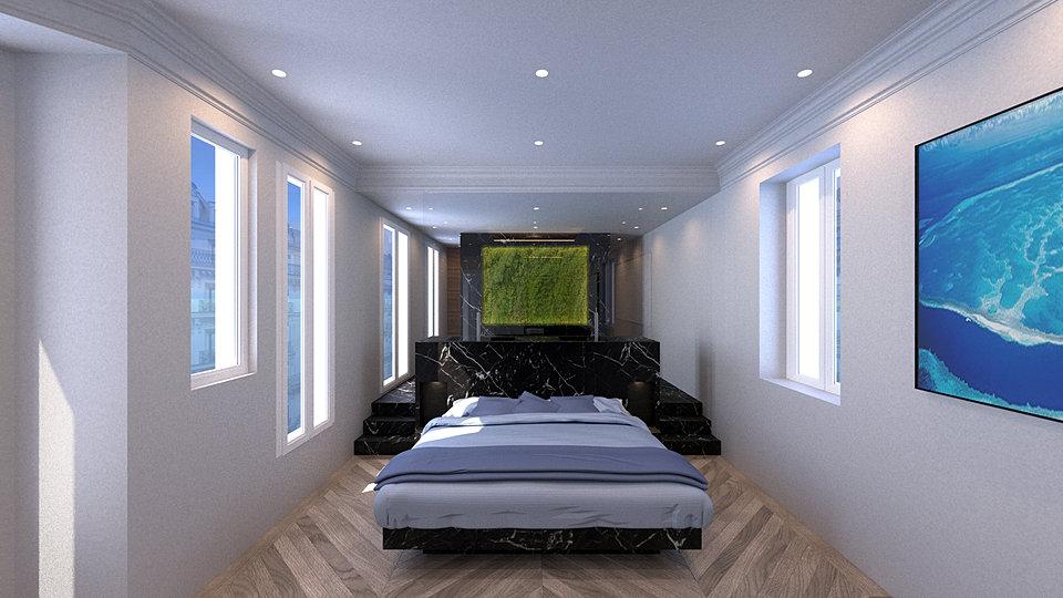 r novation compl te d 39 un appartement par atelier burel sebag. Black Bedroom Furniture Sets. Home Design Ideas
