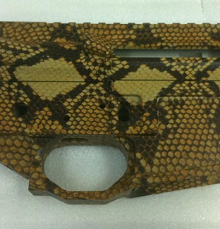 AR Receiver in Diamondback Snakeskin
