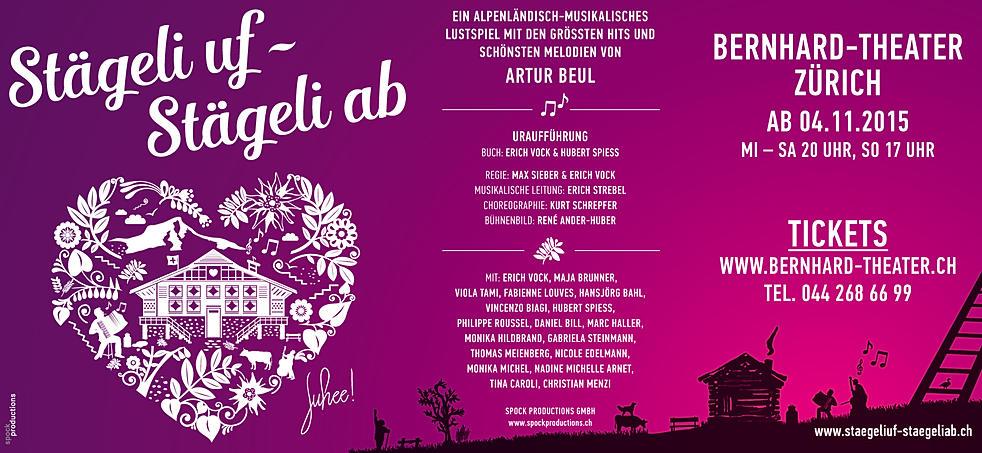 Staegeli uf, Staegeli ab, Erich Vock, Artur Beul, Bernhard Theater