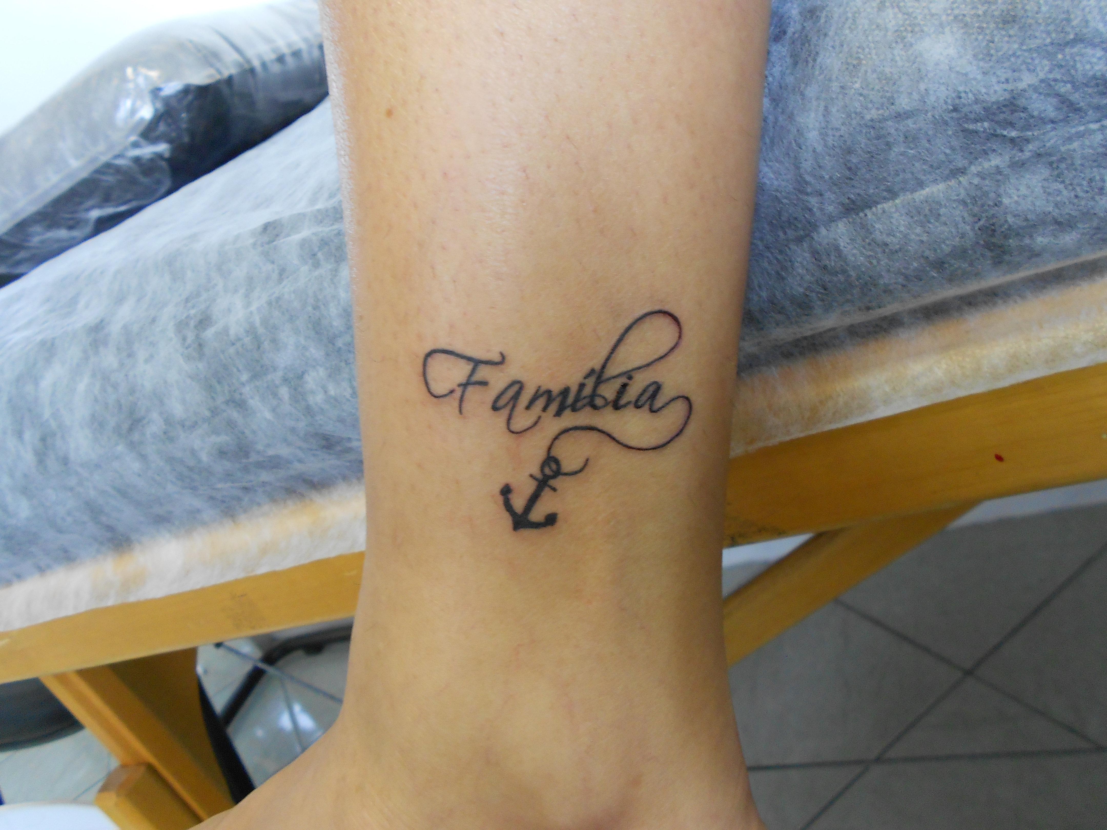 Fam&237lia Family Ancora Anchor Tattoo Feminina Tronozelo