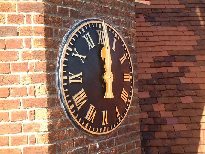 Large Outdoor Clock Part - 37: Angled View Of Dial (Large).JPG