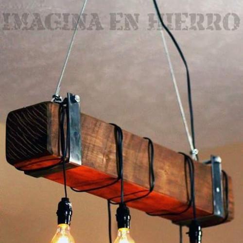 Lamparas de madera rusticas stunning madera with lamparas de madera rusticas amazing lamparas - Lamparas colgantes de madera ...