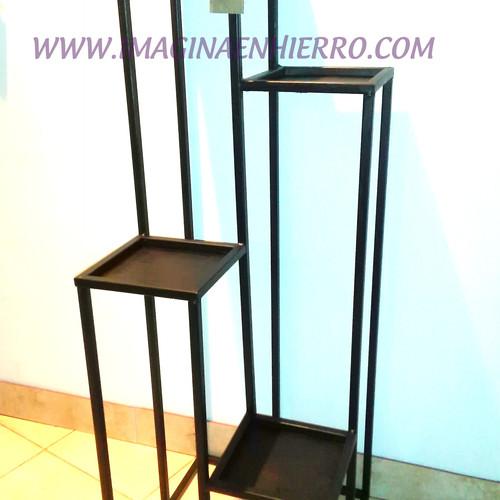 Imagina en hierro maceteros de hierro forjado artesanales - Soportes para macetas de interior ...