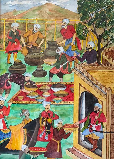 Babar's kitchen, Mughal miniatures .jpg