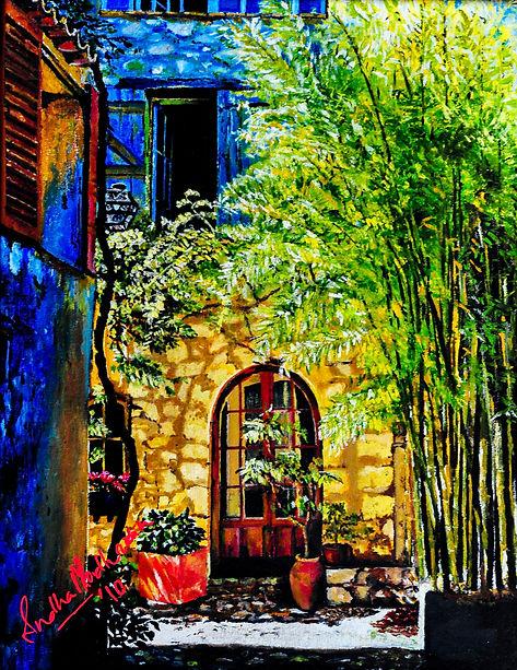 2. Spanish Courtyard_Oil on Canvas_.jpg