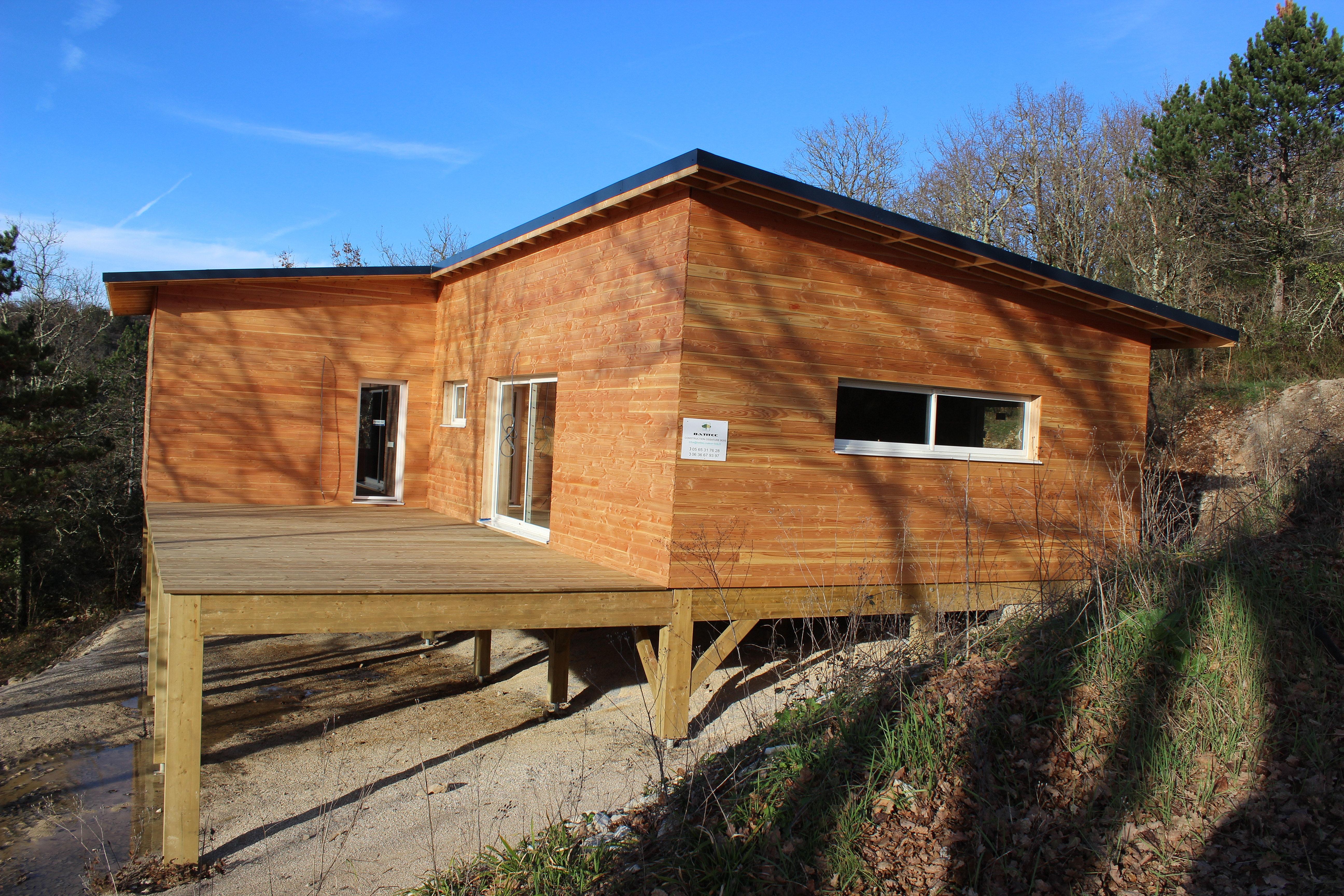 construction ecologique maison bois cahors batitec 46 lot maison bois sur pilotis. Black Bedroom Furniture Sets. Home Design Ideas