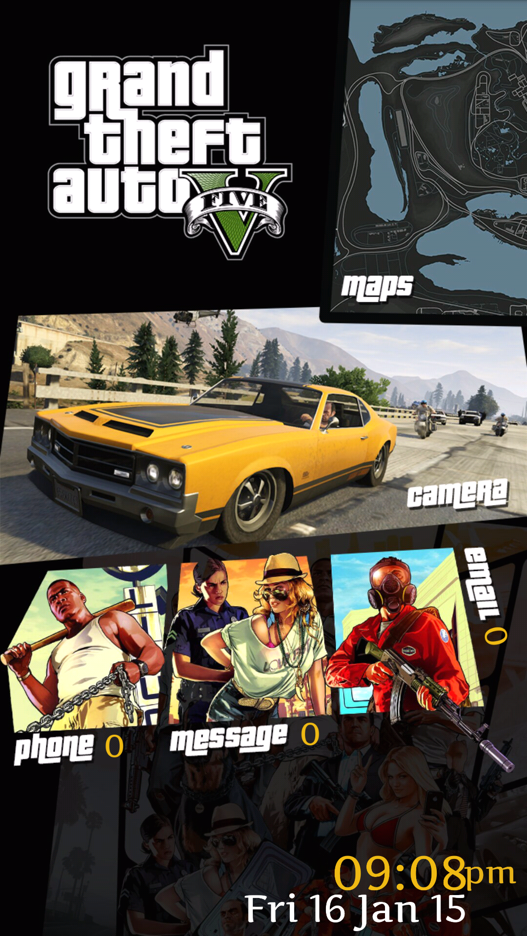 Google chrome theme gta v - A Couple Weeks Before The New Grand Theft Auto V Came Out I Was Super Excited And Found This Beauty