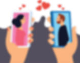 Online Dating Vector Illustration.png