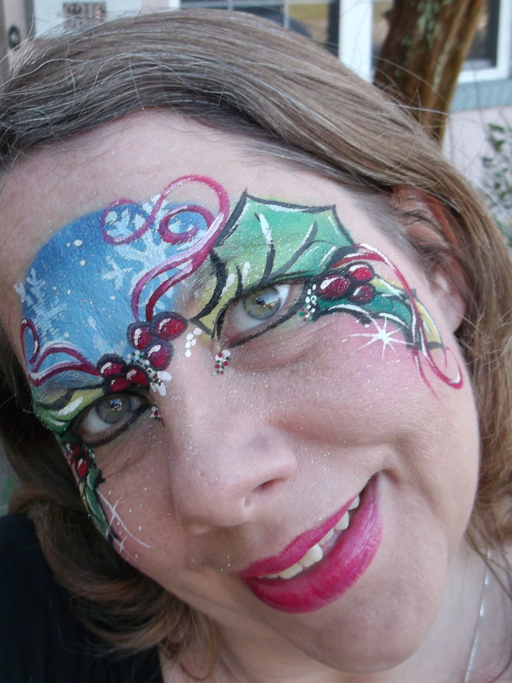 Amazing face painting by linda christmas face painting 2013 solutioingenieria Gallery