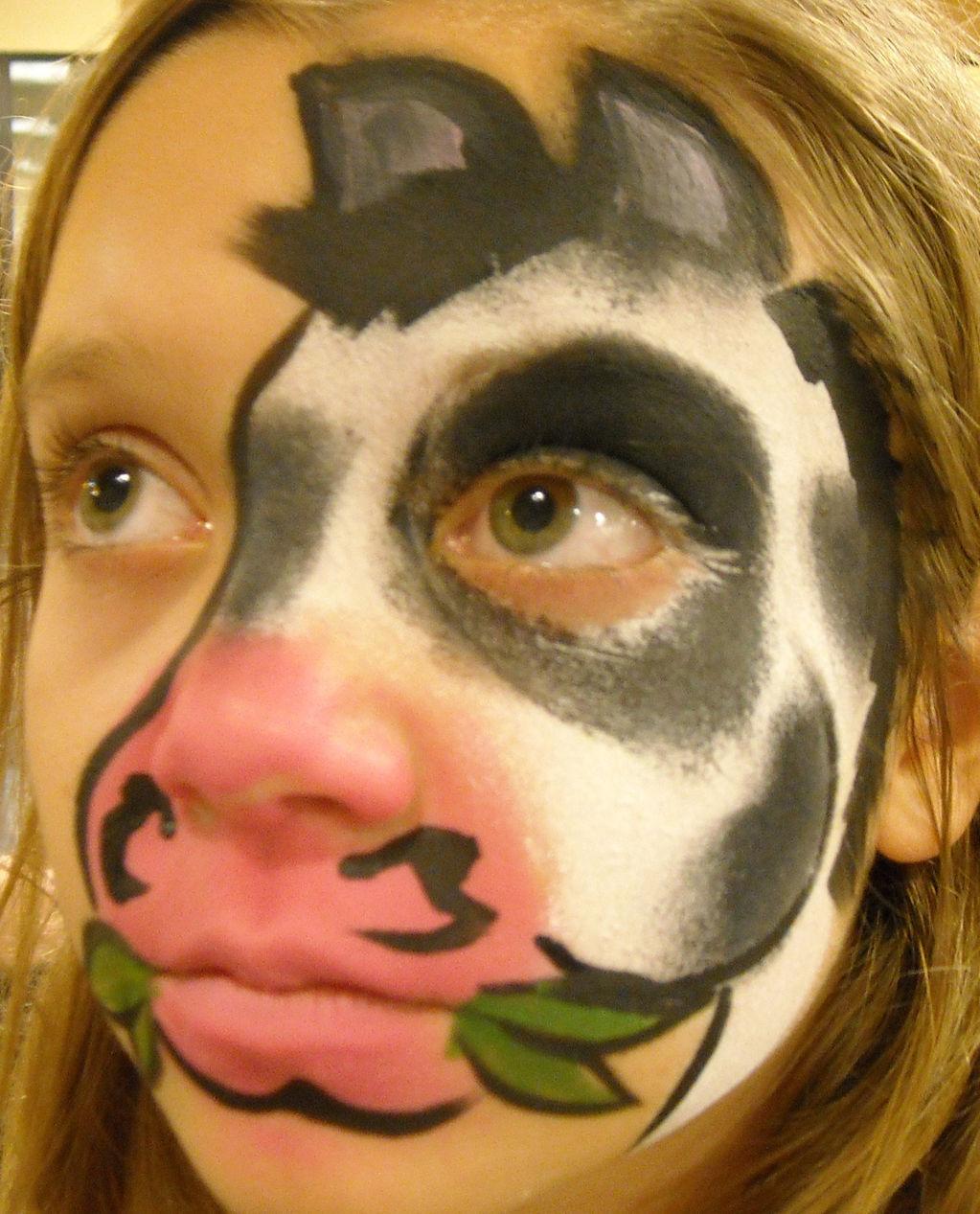 Cheetah Face Paint Boy