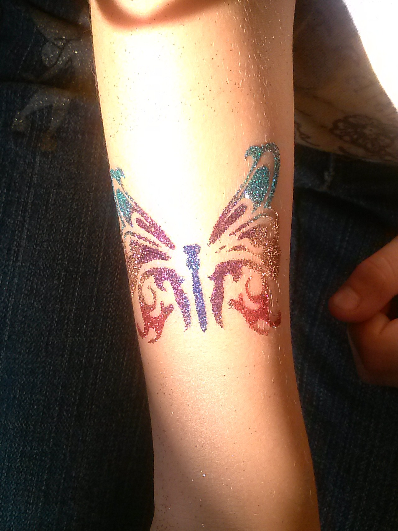 Glitter tattoos at rivercity chick fil a for Where to get glitter tattoos