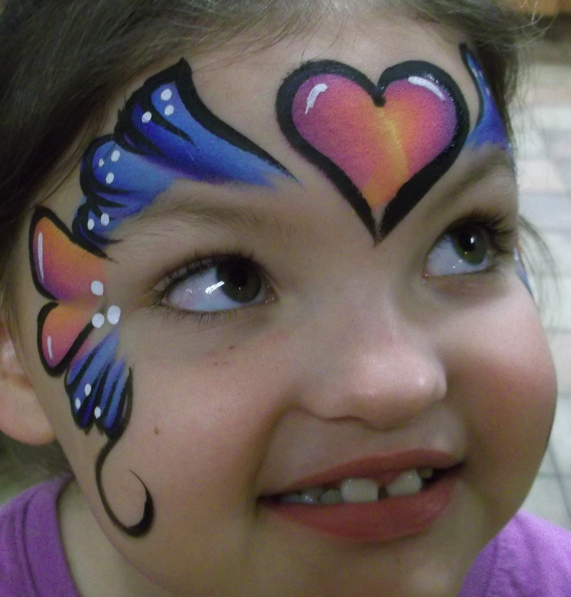 Amazing face painting by linda this design is on my business card is very popular magicingreecefo Gallery