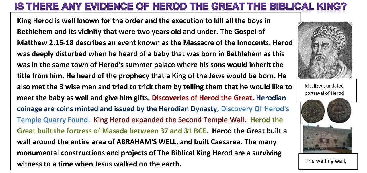 King Herod was a complex paranoid insecure obsessive cruel mad bad murderous king, WHY did they call him Herod the Great? I would call him Herod the Disgrace. Let me tell you why. By Simon Brown