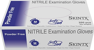 Skintx Soft Nitrile Powder-Free Exam Gloves, S500xx, Case of 10