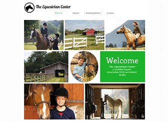 Equestrian Center Template - Welcome riding enthusiasts to your equestrian center with this elegant website template. Add photos and text to show off your facilities, highlight your services, and advertise classes. Start editing to cultivate your online presence.