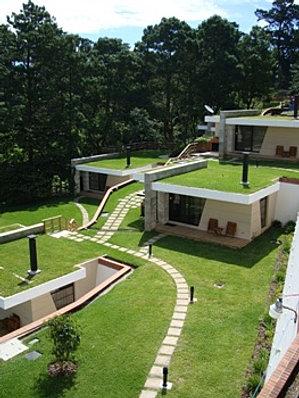 Vista de bungalows