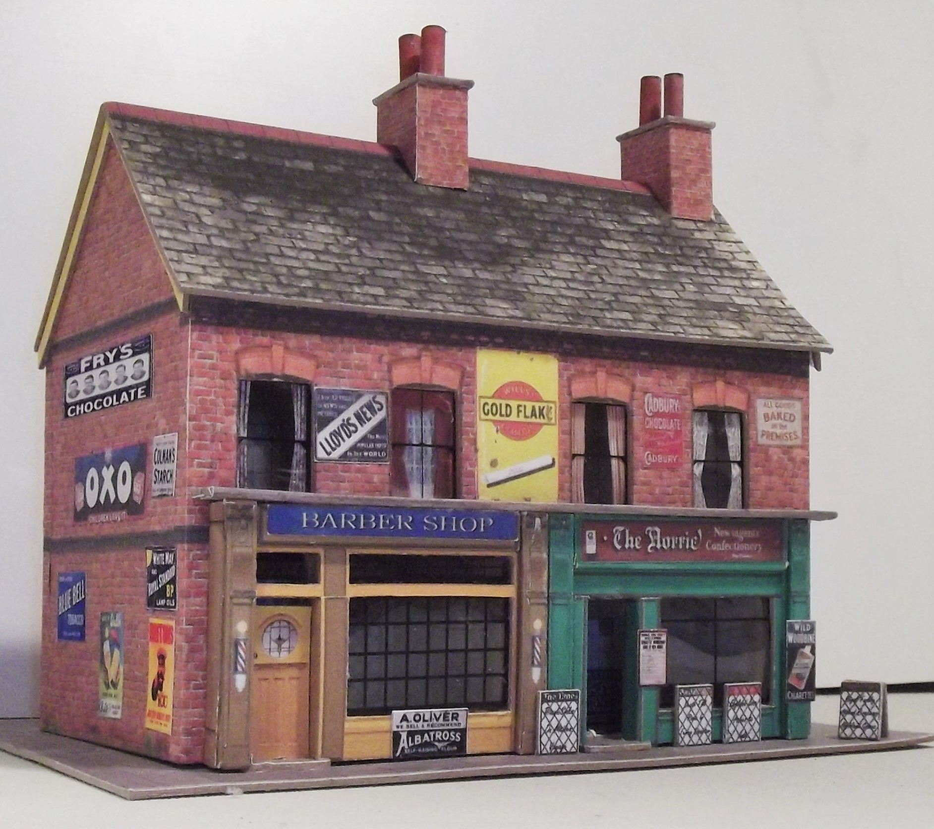 This is a graphic of Satisfactory Printable Model Railroad Buildings