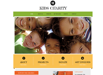 Kids Charity Template - Raise funds and awareness for your charity or nonprofit organization with this friendly and upbeat website template. The generous space for text allows you to provide detailed descriptions of your projects and goals. Upload photos to give your projects a human face. Start editing to recruit volunteers and gather donations today!