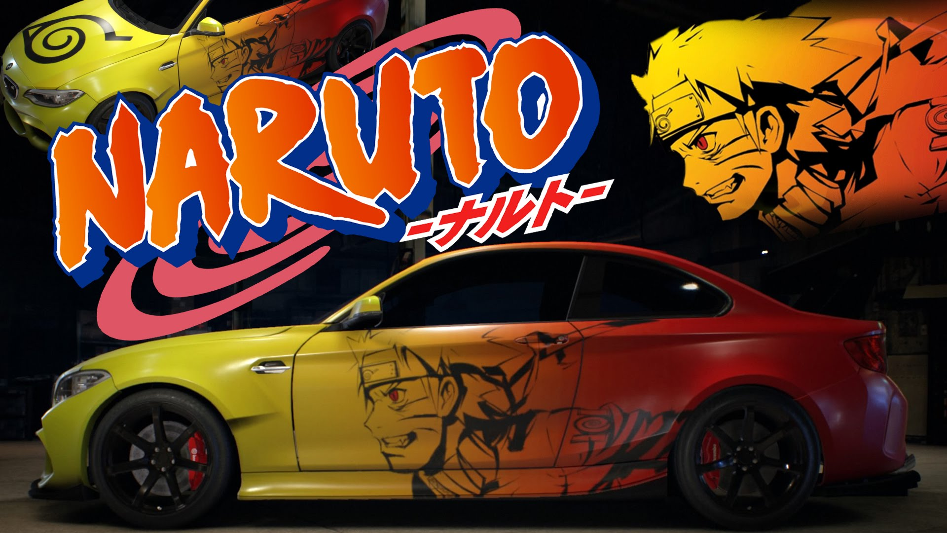 Anime vehicle wrap custom stickers