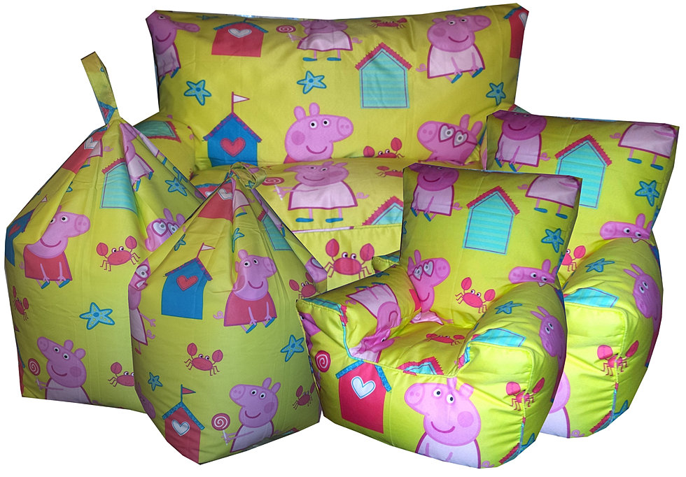 peppa pig seaside - Childrens Bean Bag Chairs
