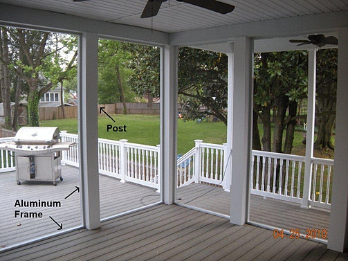 Global prefab screen enclosure superscreen screen door for Prefab screened porches