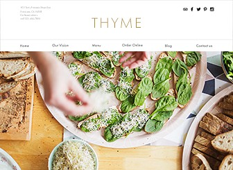 Restaurante vegetariano Template - Create a website that's as fresh as your restaurant with this modern vegetarian restaurant template. With an easy-to-edit menu, it has never been easier to attract customers to sample your dishes. Click