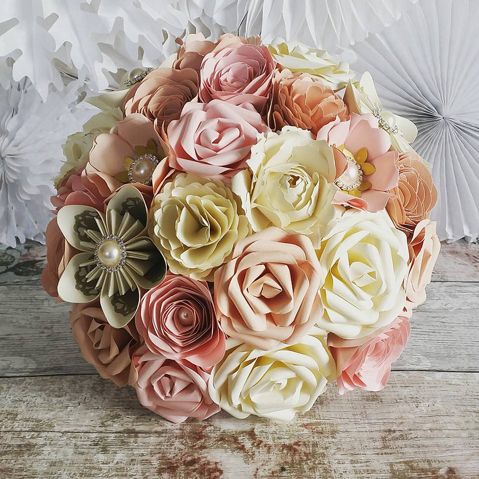 how to make flower bouquet at home with paper
