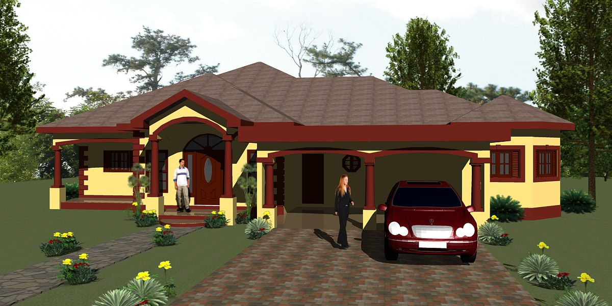 10 05 front view jamaican home designs. beautiful ideas. Home Design Ideas