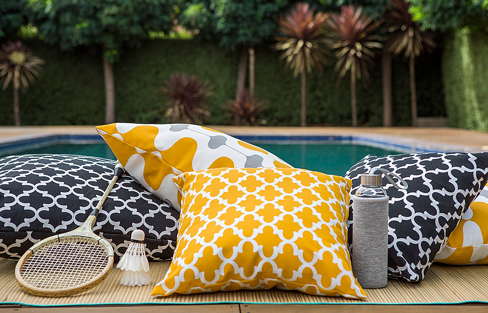 Great Outdoor Cushions Australia Yellow And Navy