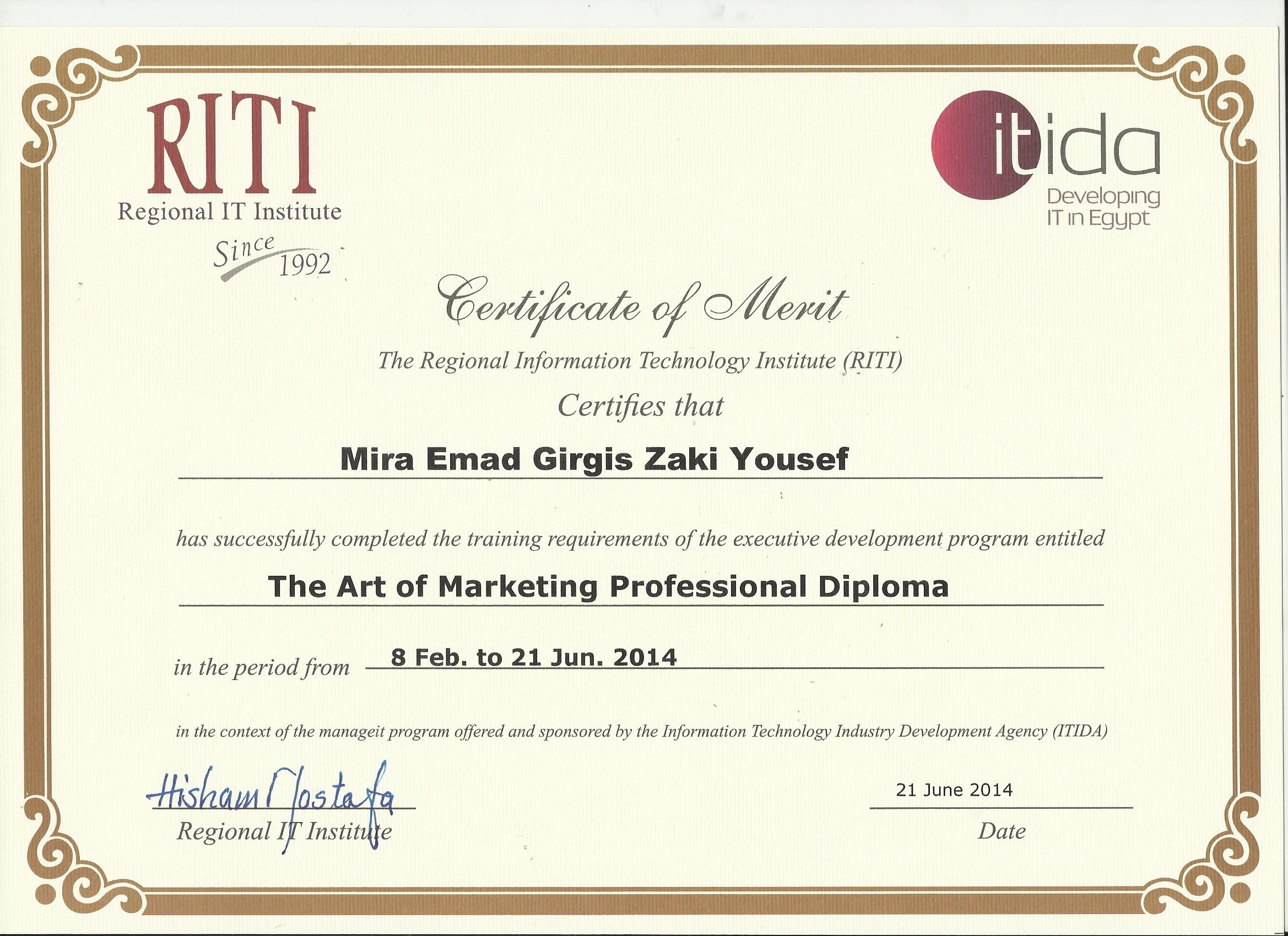 Art Of Marketing Diploma Riti Dalilak