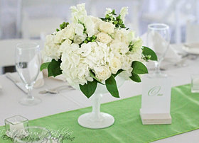 Summer white and green wedding