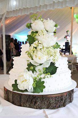 Rustic Peony Wedding Cake