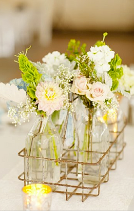 Rustic pastel wedding flowers