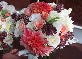 Bridesmaid Bouquet Close Up