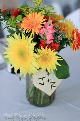 Rustic Summer Mason Jar Centerpiece