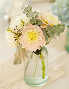 Pastel vintage wedding flowers