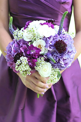 Vibrant Purple Wedding Flowers