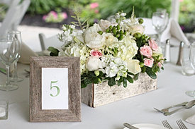 Romantic rustic wedding centerpiece
