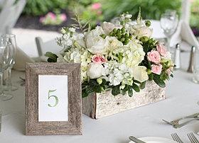 Romantic rustic wedding centerpiece