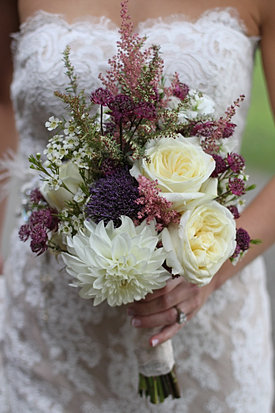 Shades of purple and pink wedding