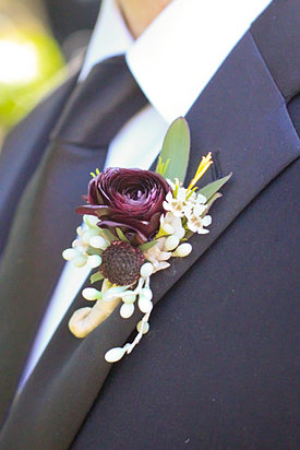 Burgundy Fall Boutonniere
