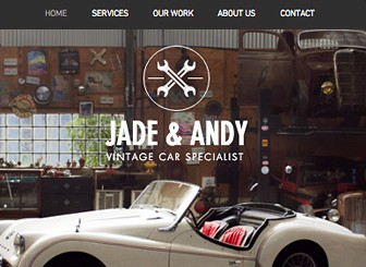 Vintage Car Garage Template - Attract customers to your garage with this vintage website template, perfect for car, motorcycle and automotive specialists. With parallax scrolling and a slick gallery, this template is ready-to-go. Simply click edit to customize the text and images and create a website that reflects the tone of your garage. Start editing today to build your online presence.