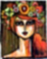 Tableau visble à la galerie Art Home Déco, Galerie d'art et artothèque, Bordeaux, Gironde, Aquitaine, Peinture, Portrait, Collage