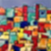 Tableau visible à la galerie Art Home Déco, Galerie et Artothèque, Bordeaux, Gironde, Aquitaine, Peinture, Urbain, Abstrait