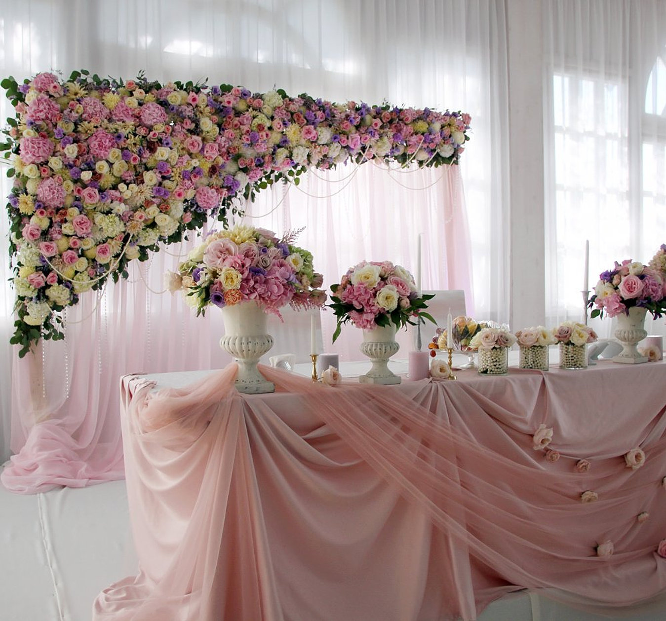 Свадебное оформление зала фото цена