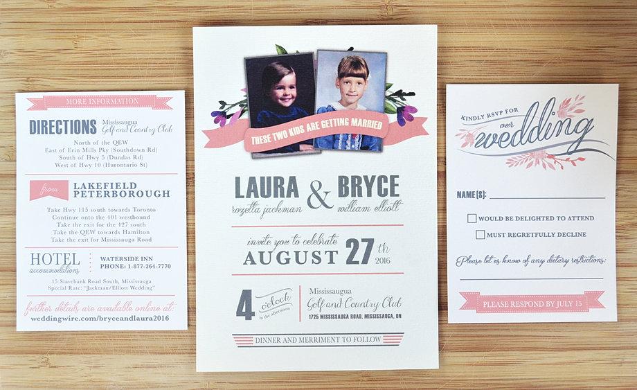 Silver Wedding Invitation Package
